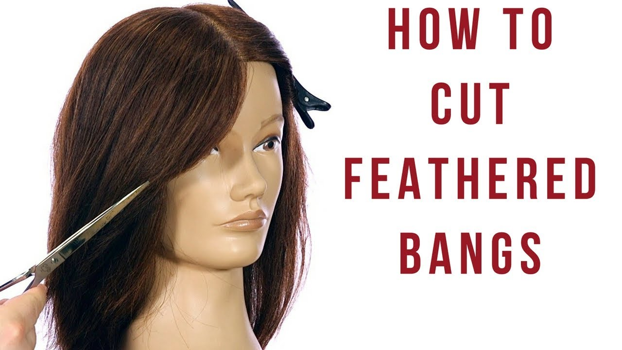feathered layers haircut tutorial - how to cut feathered bangs & face frame - thesalonguy