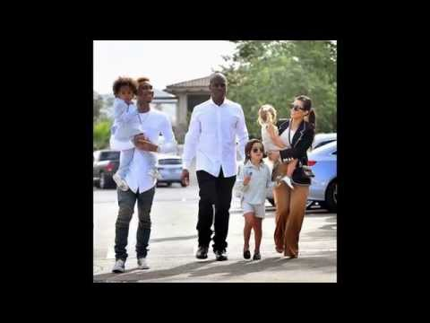 Kim Kardashian and Kanye West take North to church