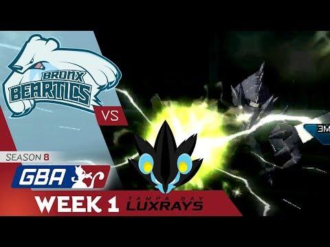 """WHAT A START"" Bronx Beartics vs Tampa Bay Luxrays! GBA S8 W1! Pokemon Ultra Sun & Moon Wi-Fi Battle"