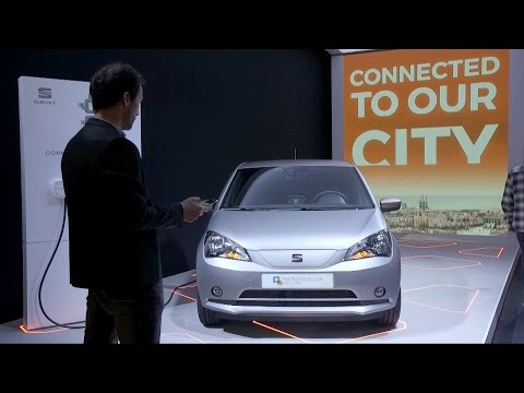 SEAT eMii electric prototype unveiled at the Mobile World Congress, Barcelona