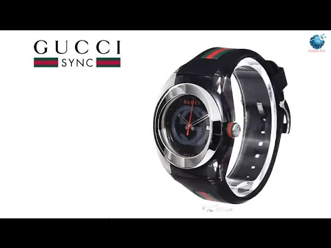 169a66c6025 Gucci SYNC XXL YA137101 Stainless Steel Watch with Black Rubber Bracelet