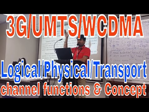 3G/UMTS/WCDMA Logical/Physical/Transport channel functions,@GLOBE telecom,Philippines,Niladri Nihar