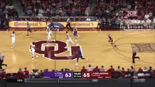 TCU at Oklahoma Men's Basketball Highlights