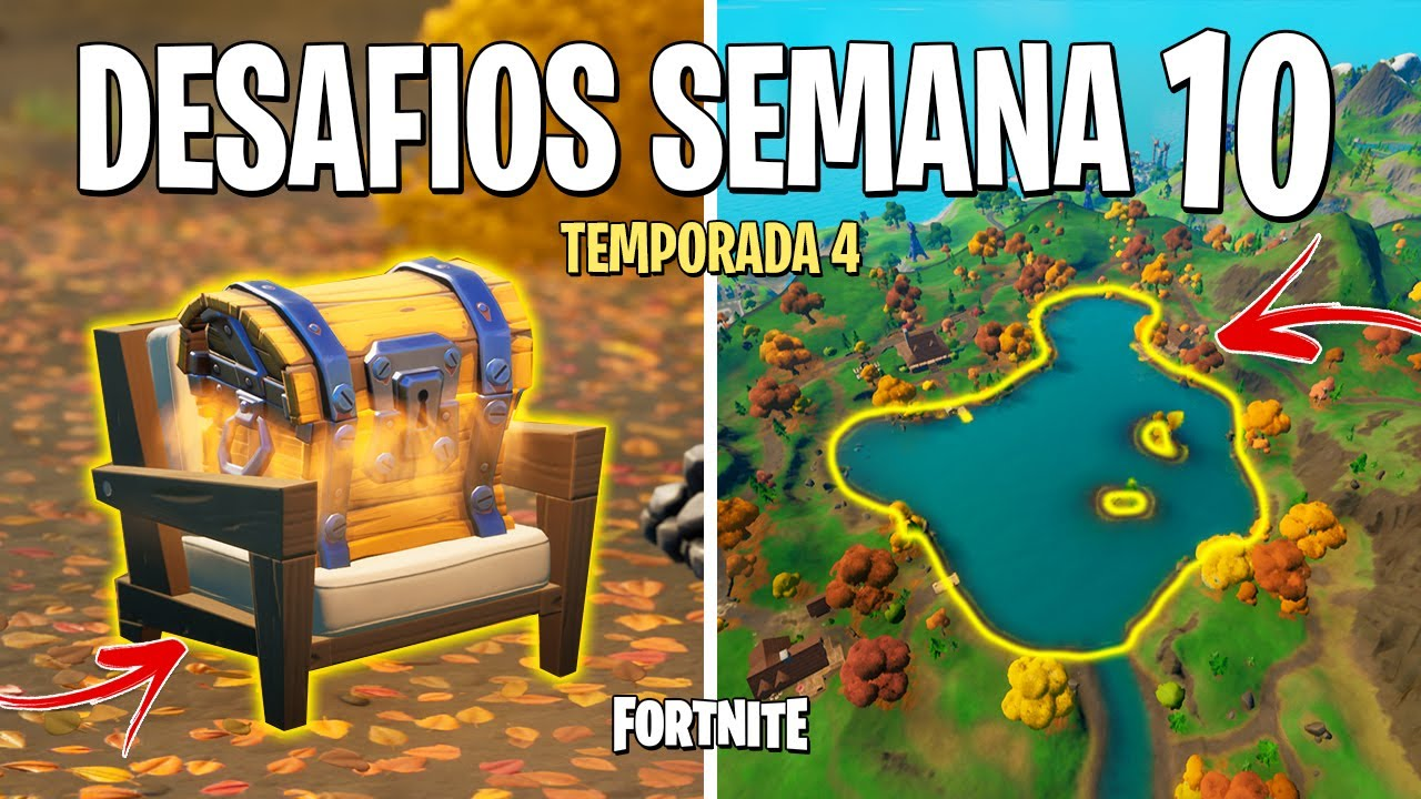 FORTNITE - RESOLVER DESAFIOS SEMANA 10 TEMPORADA 4