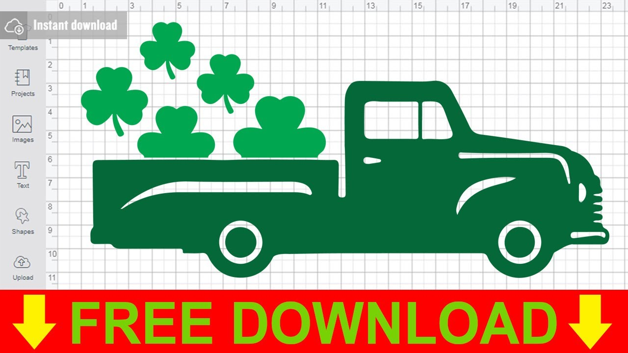Saint Patrick'S Day Truck Svg Free Cut Files for Cricut ...