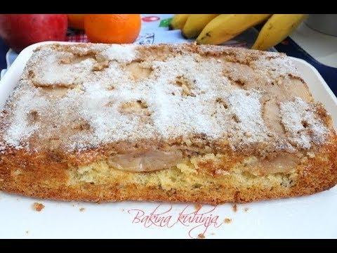 Bakina kuhinja -fini sočni kolač sa jabukama