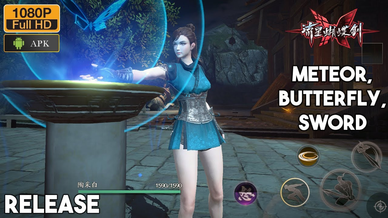 Meteor Butterfly Sword Gameplay (Release) Mobile Android - iOS by NetEase