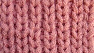 Резинка со снятыми петлями -  Узоры вязания спицами 2