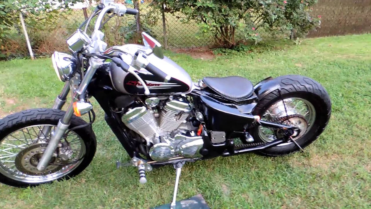 2000 Honda Shadow Vlx Bobber Youtube