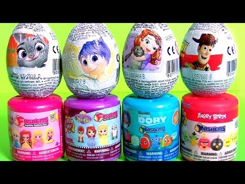 MASHEMS FASHEMS SURPRISE EGGS Sadness Princess Sofia Woody Dory Nemo Frozen Elsa Mermaid Ariel