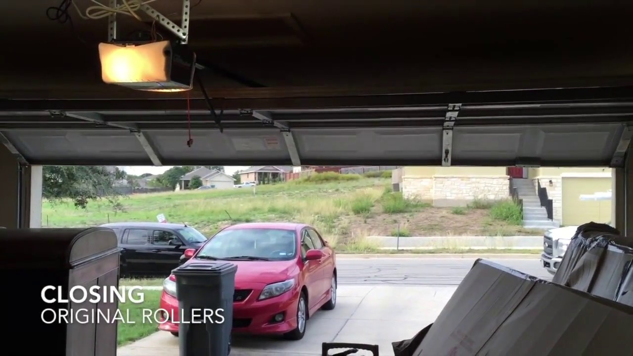 Noisy Garage Door  Roller Replacement  Before  After