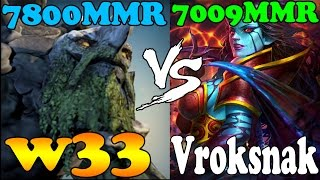 Dota 2 - w33 tiny 7800MMR vs Vroksnak Queen of Pain 7009MMR - Ranked Match Gameplay