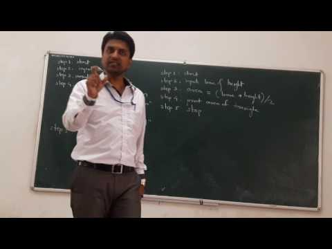 Algorithm and Flow chart Lecture 15.1