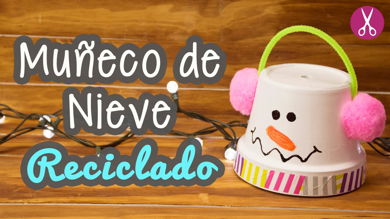 Mu eco de nieve reciclado decoraciones navide as manualidades para navidad catwalk youtube - Decoracion navidena con reciclaje ...