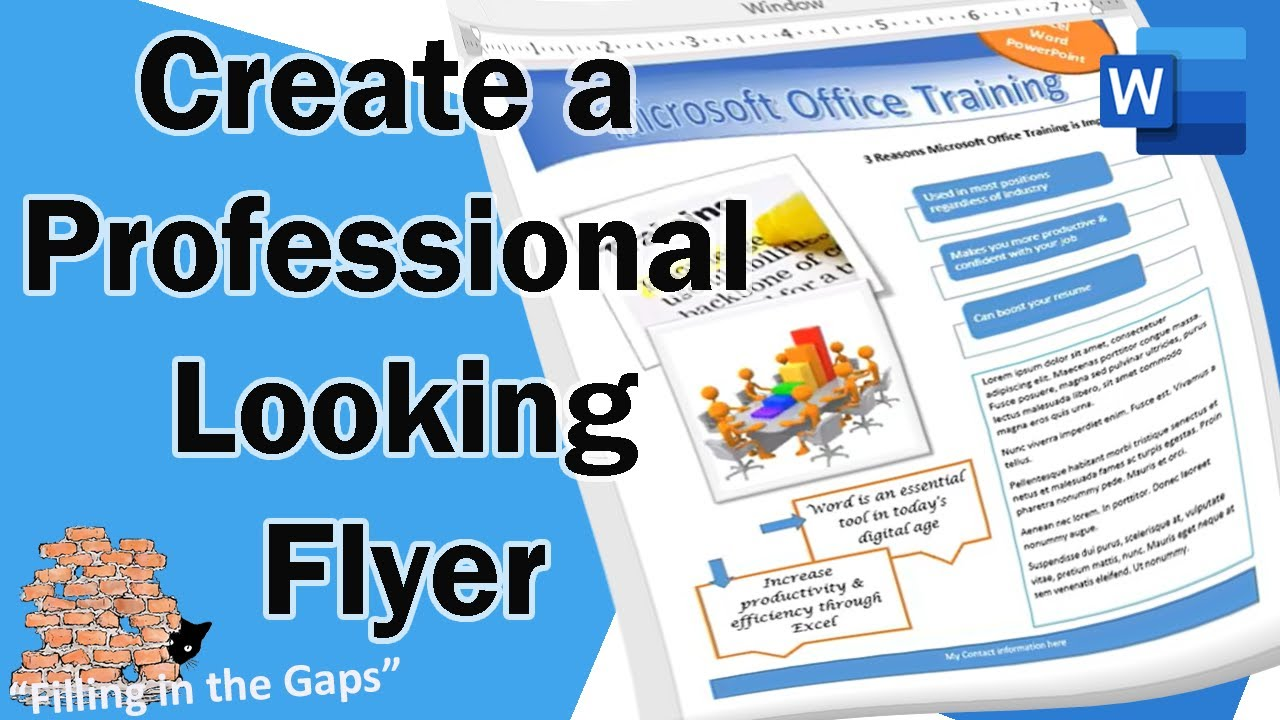 create a professional looking flyer in microsoft word youtube
