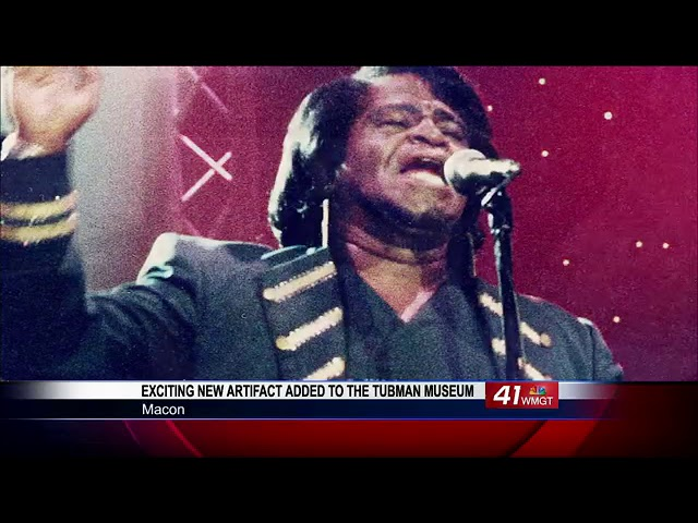 James Brown artifact gets new home at Tubman Museum