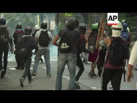 Venezuelan protesters clash with police