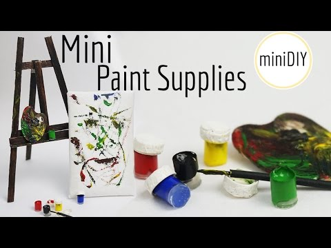 Miniature Paint & Art Supplies DIY (actually works!) // Dollhouse - miniDIY