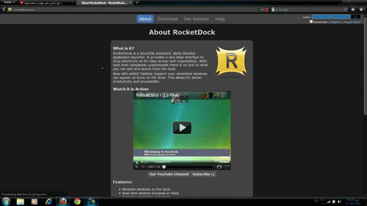 rocketdock 2012 pour xp
