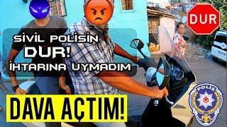 TRAFİK CEZASINA İTİRAZ ETTİM VE KAZANDIM! | SİVİL POLİSİN DUR İHTARINA UYMADIM | MotoVlog #53