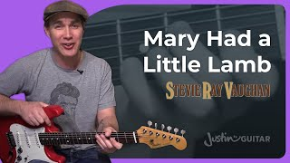 Mary Had A Little Lamb - Stevie Ray Vaughan (Guitar Lesson ST-343) SRV Blues Texas