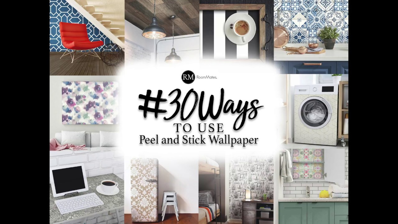 30 Ways to Use Peel and Stick Wallpaper - YouTube