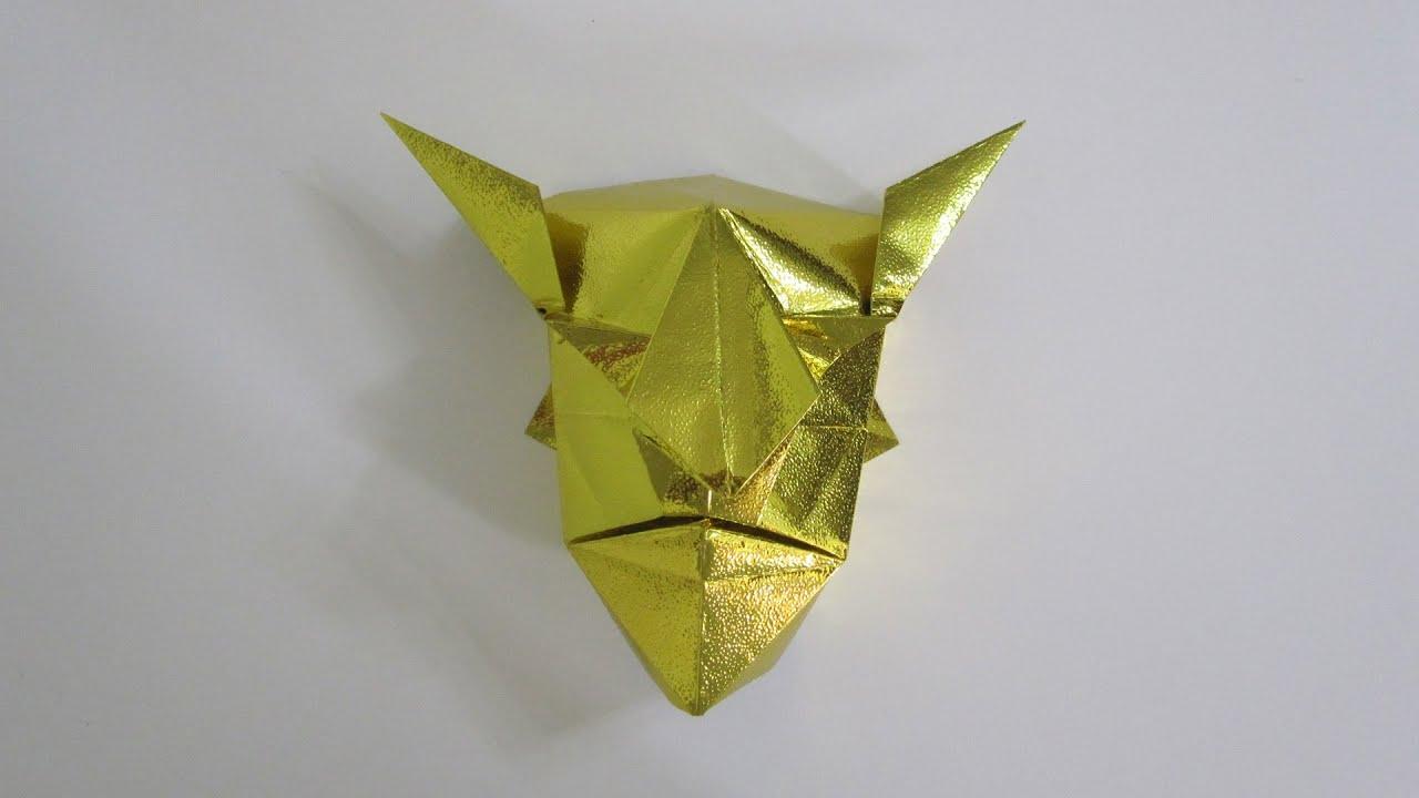 tutorial origami devil mask from the book quotgenuine