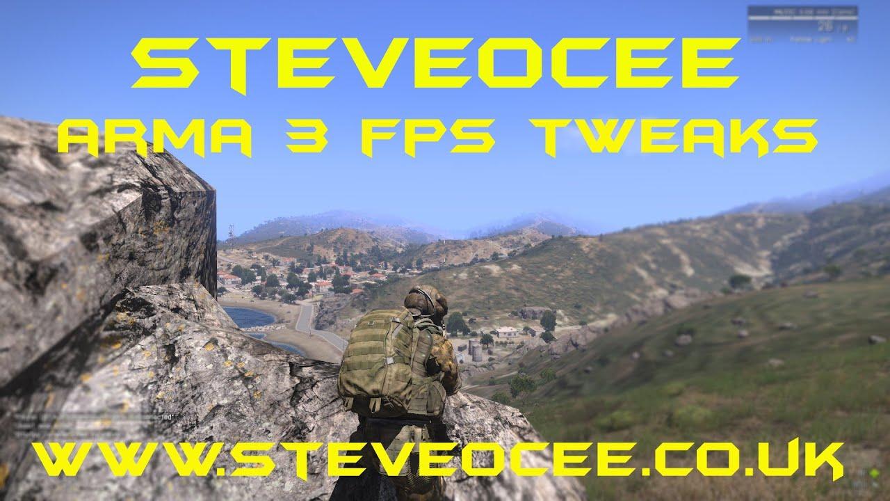 Arma 3 FPS tweaks using notepad - Steveocee