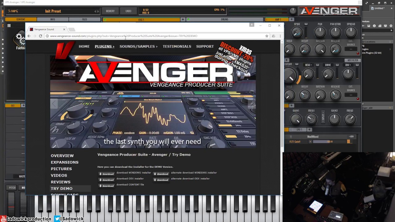 Vengeance Producer Suite - Avenger - First Time Use & Exploration