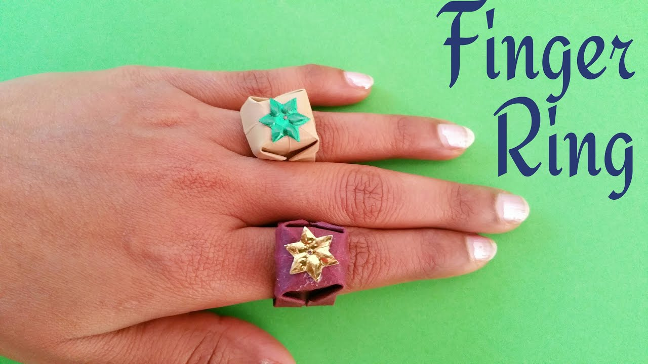How to make a paper finger ring origami tutorial youtube jeuxipadfo Choice Image