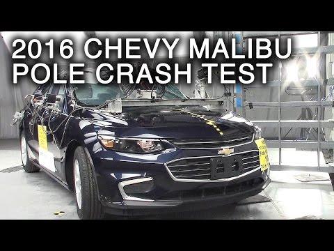 2016 Chevy Malibu Crash Test (Side Pole Crash)