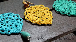 Nice and easy crochet earrings | Aqua