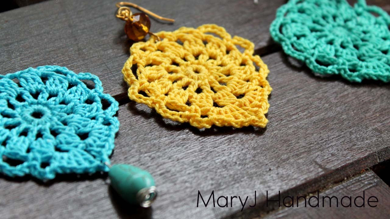 Nice And Easy Crochet Earrings Aqua Youtube