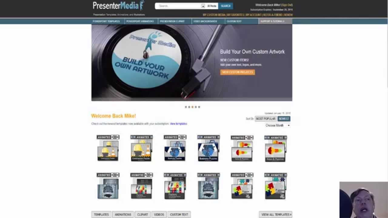 custom text graphics | presenter media review | powerpoint templates ...