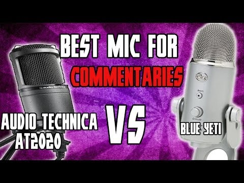 Audio Technica AT020 Vs Blue Yeti- Best Mic For Commentaries
