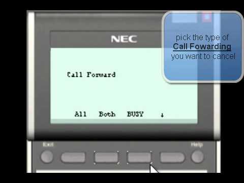 NEC SV8100 : How to cancel Call Forwarding