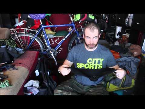Bicycle touring and camping equipment list for cold weather (down to single digits)