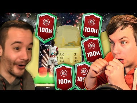 OMG ONE OF MY BEST 100K PACKS YET, INSANE!!! - FIFA 19 ULTIMATE TEAM PACK OPENING thumbnail