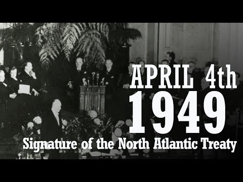 Signature of the North Atlantic Treaty - April 4th 1949 in Washington