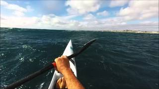Extreme Perth Downwind Surfski Paddle on my Fenn Elite S - Cottesloe to Sorrento 31/01/16
