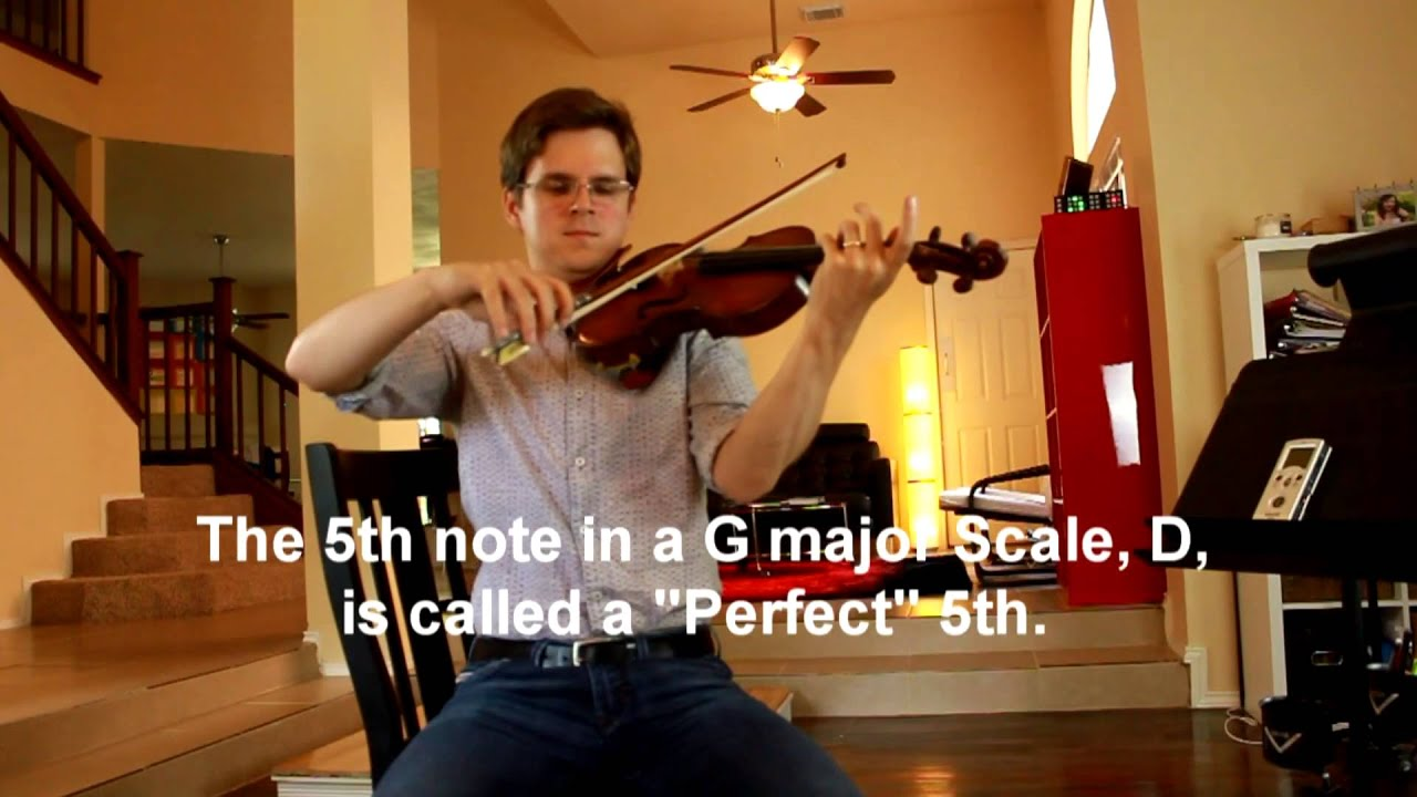 G major scale, practicing intonation with a Drone Pitch