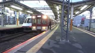 近鉄21000系特急名古屋行き到着と1422系1422編成+1437系1444編成+9200系快速急行大阪上本町行き発車