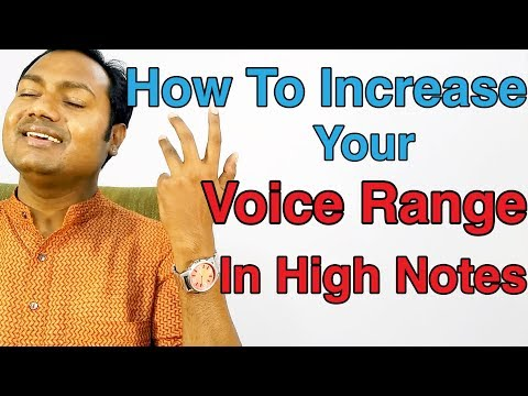 """How To Increase Your Voice Range In High Notes ? """"Bollywood Singing Lessons Online"""" (Hindi)"""