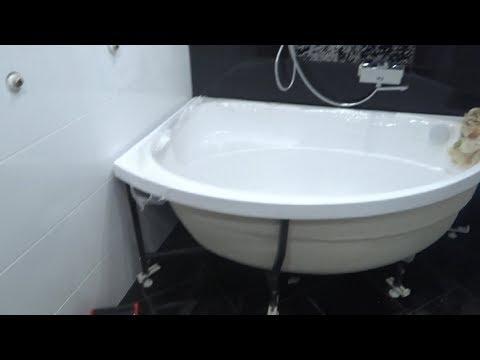 Установка Акриловой ванны Своими Руками Видео инструкция! сифон для ванны с переливом