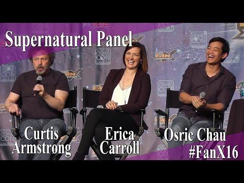 Supernatural Panel  Curtis Armstrong, Erica Carroll, Osric Chau  X 2016