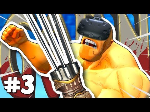 BECOME WOLVERINE in VIRTUAL REALITY!? ✪ GORN VR Part 3 (HTC Vive Virtual Reality)