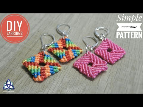 How to Make Simple Macrame Earrings DIY