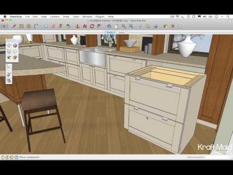 Google SketchUp Tips - Resizing a Cabinet