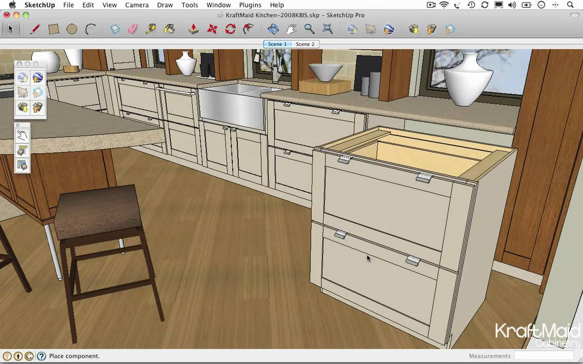 Google Sketchup Tips Resizing A Cabinet Youtube