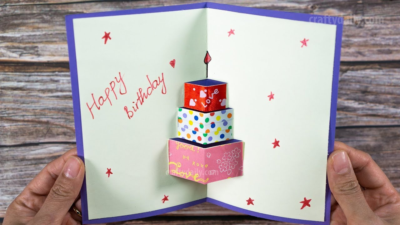 How To Make Happy Birthday Card Happy Birtday Greeting Card